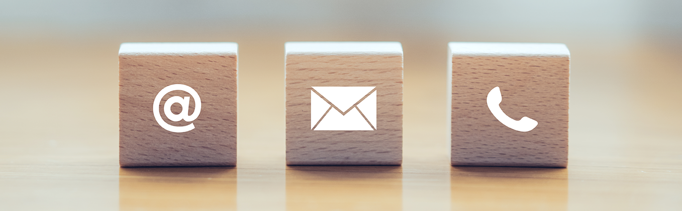 email, mail or call