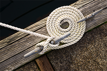 rope on dock cleat